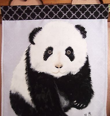 Panda Bear painting, Baby Panda bear, Wall art, Bear wall hanging, Panda Bear
