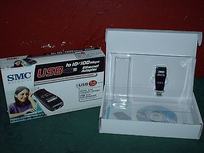 NEW IN PACKAGE SMC NETWORKS USB TO 10/100 MBPS ETHERNET ADAPTER -USB 1.1
