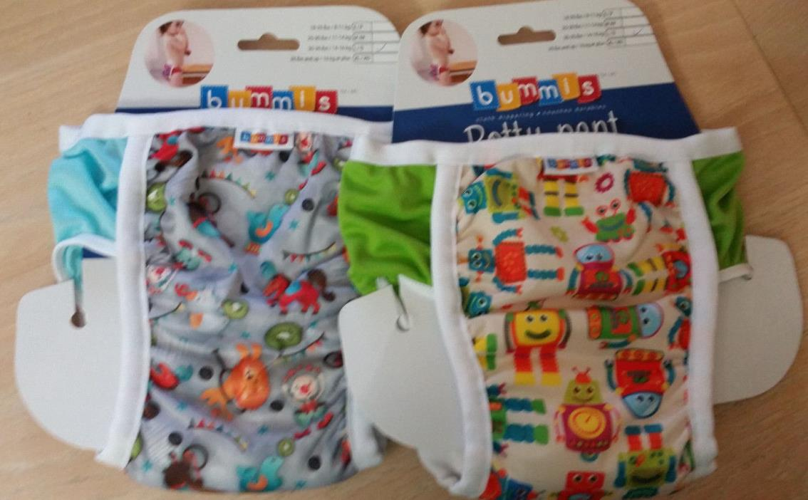 Set 2, Size L 30-35 lbs/14-16kg BUMMIS Waterproof Pull-On Potty Training Pants