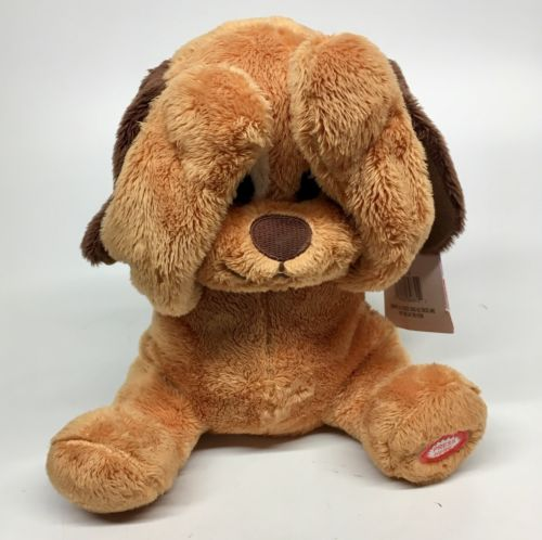 Peek-a- Boo Animated Dog Plush Puppy Giggles Play Right 8