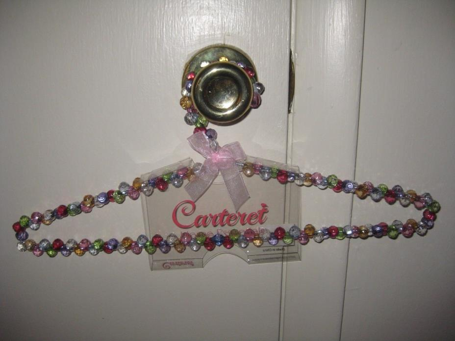 Carteret Beaded Hangers, Multi-colored, NIB, Set of 24
