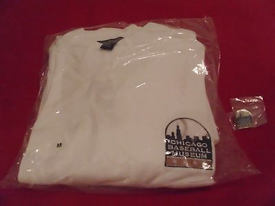 Chicago Baseball Museum mock shirt + logo pin / SIP / Chicago Cubs / White Sox
