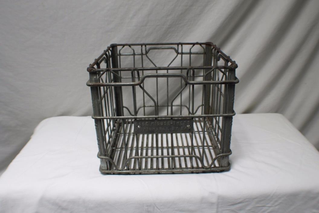 Vintage Metal 4 Gallon Milk Crate