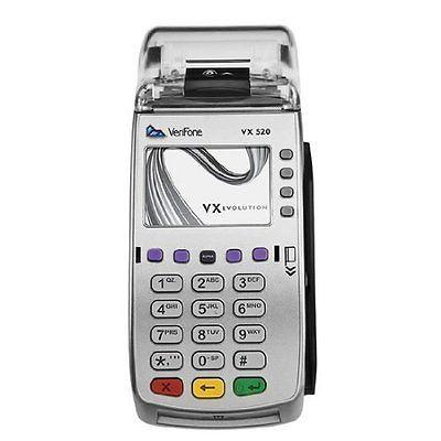 VeriFone Vx520/ Vx 520 CTLS EMV Credit Card Terminal- BRAND NEW!