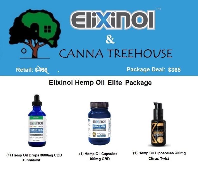 Elixinol Hemp Oil Elite Package