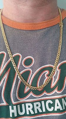 14K Miami Cuban Link Chain Solid Gold , 27
