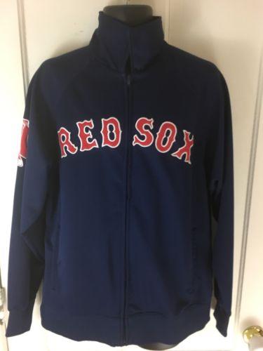Stitches MLB Boston Red Sox Navy Blue Track Jacket Medium
