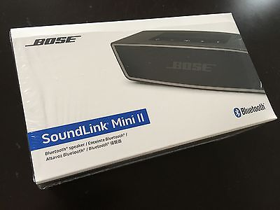 NEW Bose SoundLink Mini II Black - Factory Sealed + FREE SHIPPING!