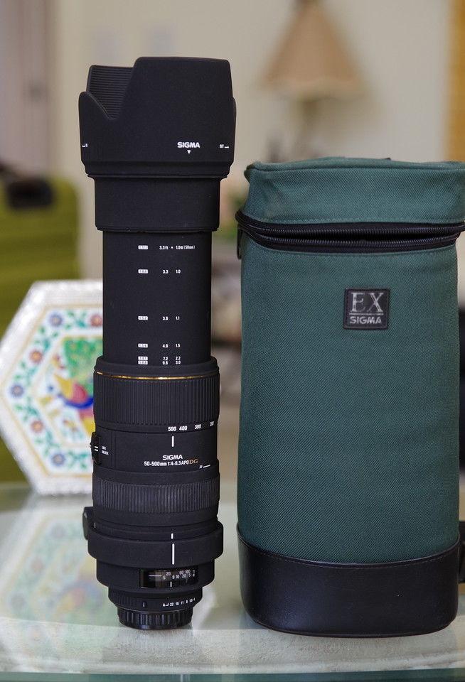 Sigma 50-500mm f4-6.3 APO DG Lens 50-500/4-6.3 Pentax full frame K-1