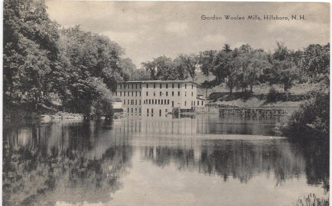 Gordon Woolen Mills Hillsboro New Hampshire Vintage Postcard L87