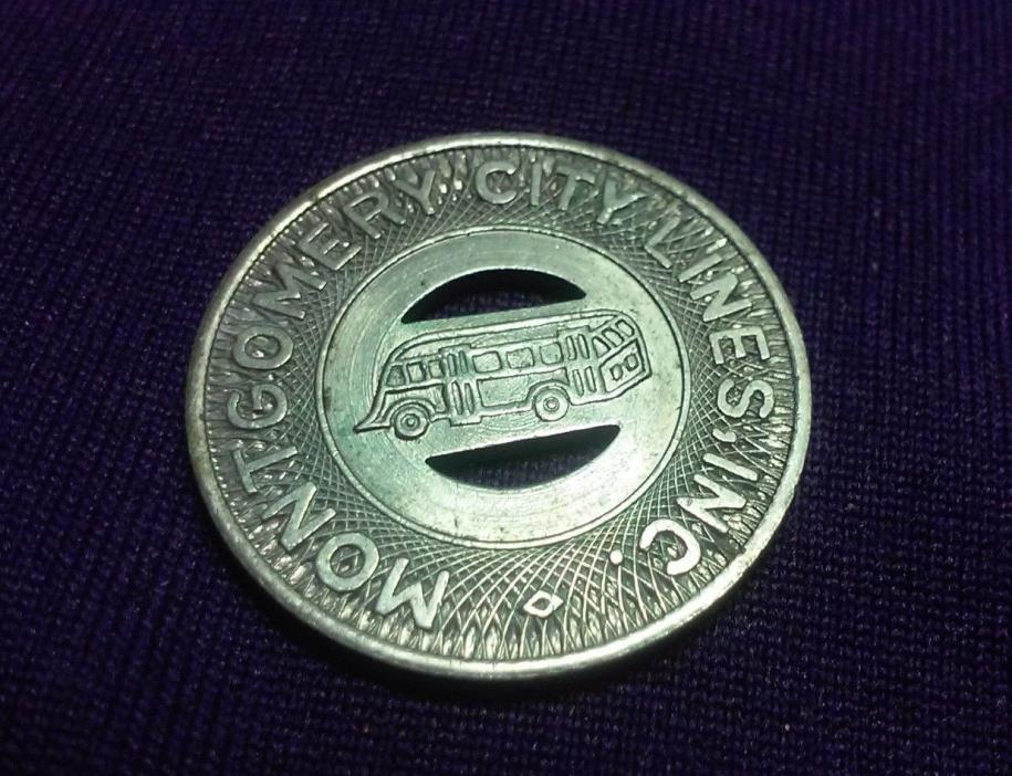 VINTAGE MONTGOMERY CITY LINES INC GOOD FOR ONE FARE TRANSIT TOKEN