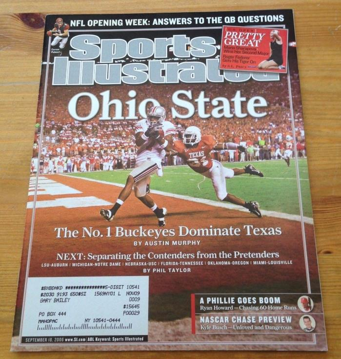 SEPTEMBER 18 2006  SPORTS ILLUSTRATED COLLEGE  OHIO STATE