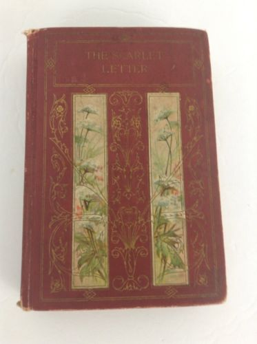 Antique Book - The Scarlet Letter - Nathaniel Hawthorne - 2nd edition - Altemus