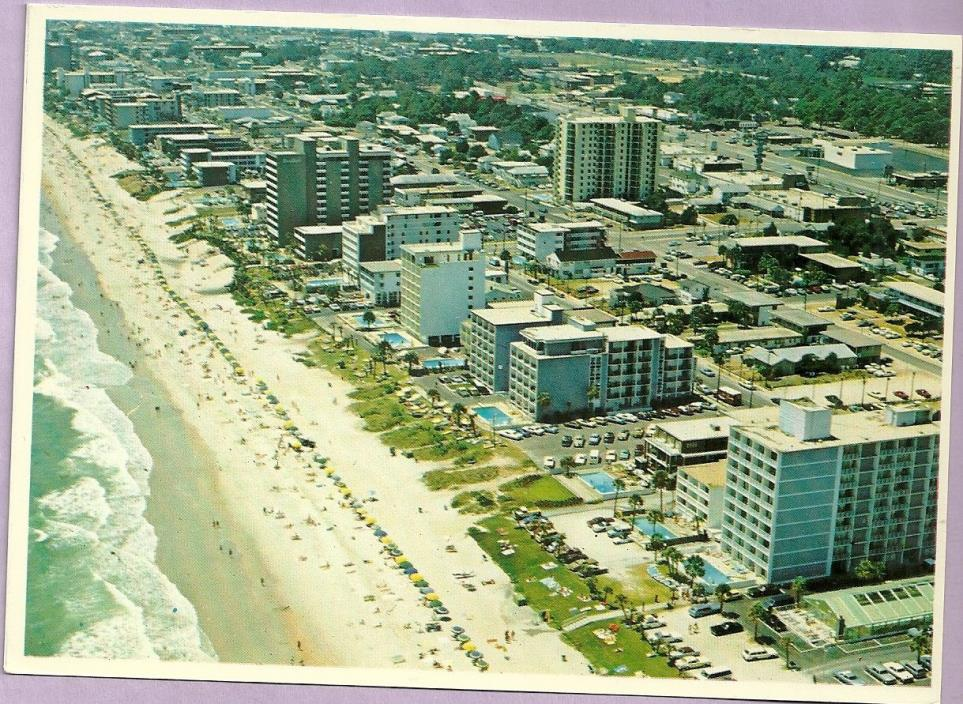 GREETINGS, AERIAL VIEW, CHROME, UNPOSTED, MYRTLE BEACH, SOUTH CAROLINA