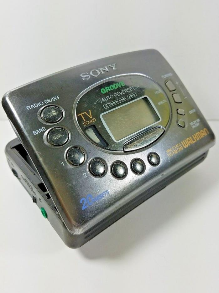 SONY GROOVE WALKMAN WM-FX465 TV/FM/AM Radio Cassette Tape Player Dolby 20 preset