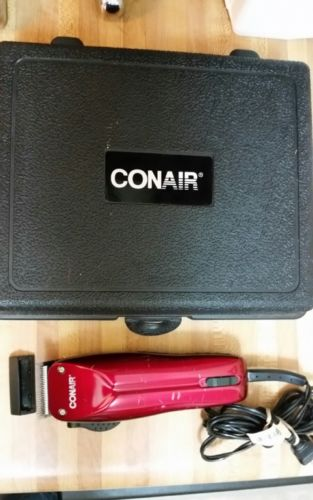CONAIR ELETRIC HAIR CUTTING KIT . COMPLETE WITH HARD CARRYING CASE