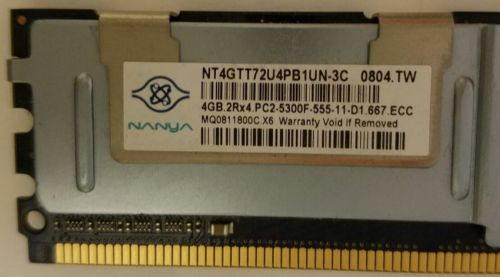 NANYA 4GB 2Rx4 PC2-5300F RAM ** LOT of 4**