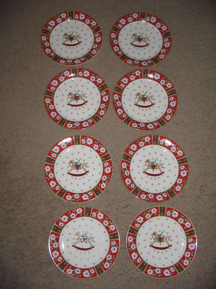 8 Classic Traditions Charlton Hall Christmas Tableware 7 3/4