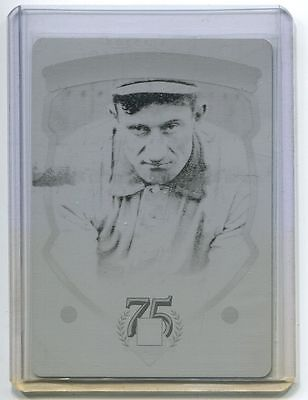 2014 Panini Hall of Fame Print Plate Black Honus Wagner 1/1 Pittsburgh Pirates