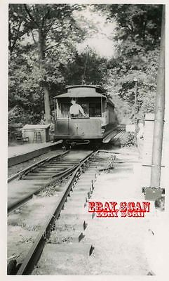 6H477 RP 1946/60s 5 MILE BEACH ELECTRIC RAILWAY ? CAR #31 BACKING BARN SWITCH