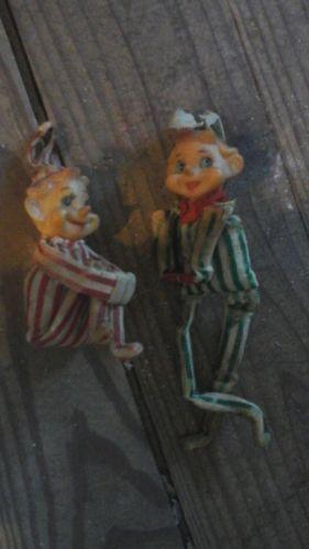 Vintage christmas elves pixie