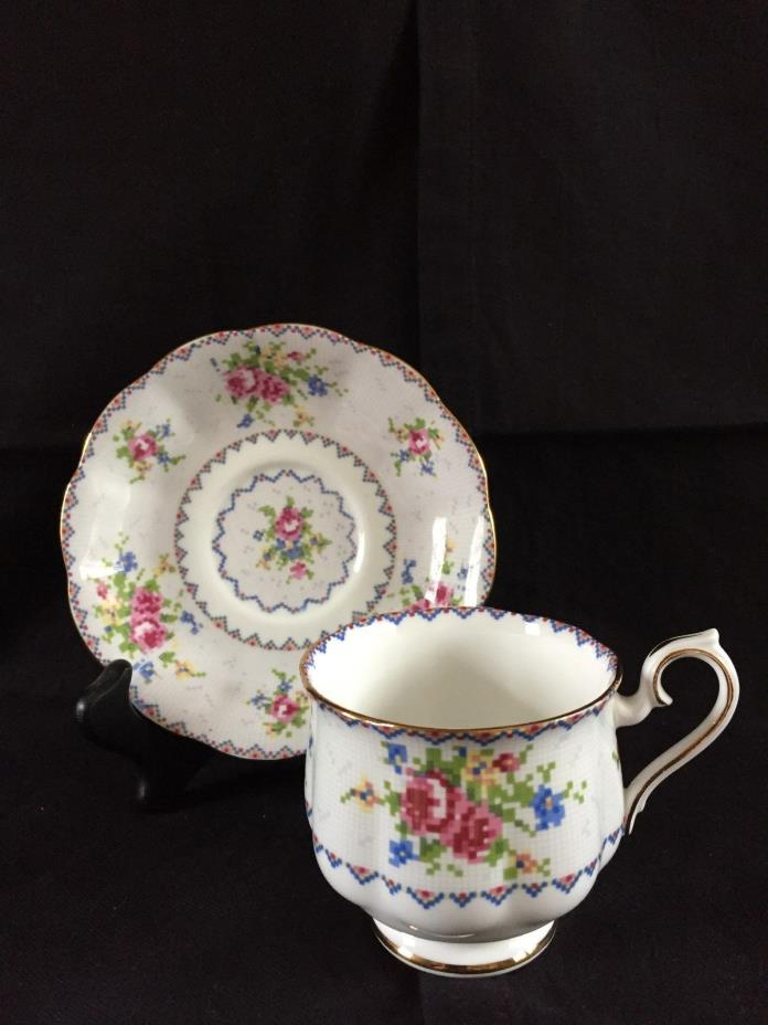 Royal Albert Petit Point Footed Cup & Saucer (More Available)