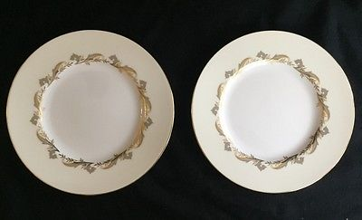Set of 2 Minton Gold Laurentian 7-5/8