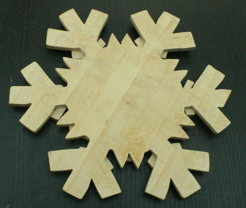Unpainted Wooden Christmas Snowflake/Star