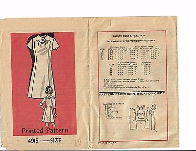 # 4915 Vintage Mail Order Pretty Dress Pattern Sz 12 used
