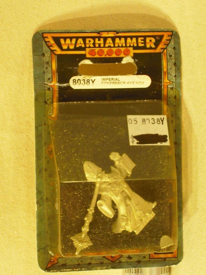Warhammer 40K Confessor Kyrinov Sisters of Battle Metal (8038Y) 1997 NIB