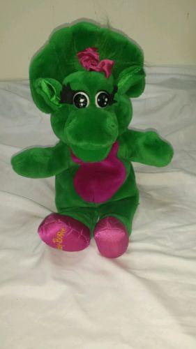 1992 Baby Bop Plush Hand Puppet Full Body Barney Dinosaur