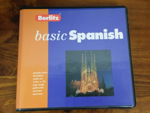 Berlitz Basic Spanish - Cassette Edition with 192-page Long Book, Like New, 1997