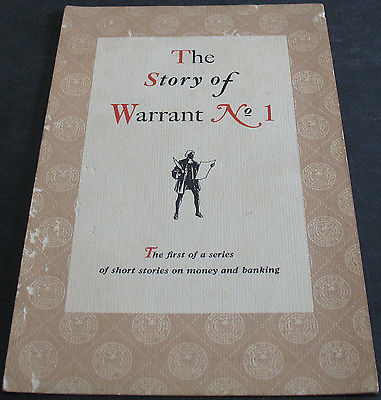 The Story Of Warrant No 1 - 1st Of A Series - Fold Out Pamphlet - Rare Scarce