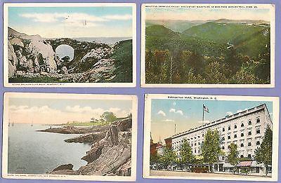 4 PC 1920s METROPOLITAN HOTEL DC, Hudson Park NY,Mohawk Trail, MS,Cliff Walk,RI