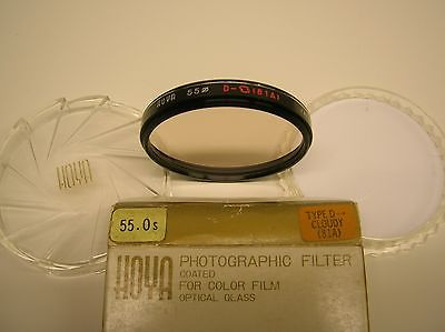 Hoya 55mm Type D Cloudy (81A) Camera Filter, excellent condition