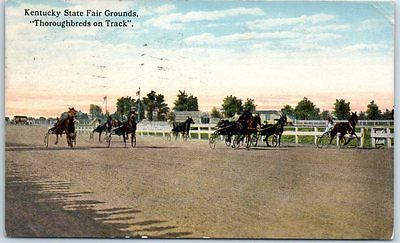 Louisville, Kentucky Postcard Harness Horse Racing