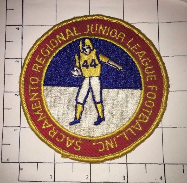 Sacramento Regional Junior League Football Inc Patch - vintage