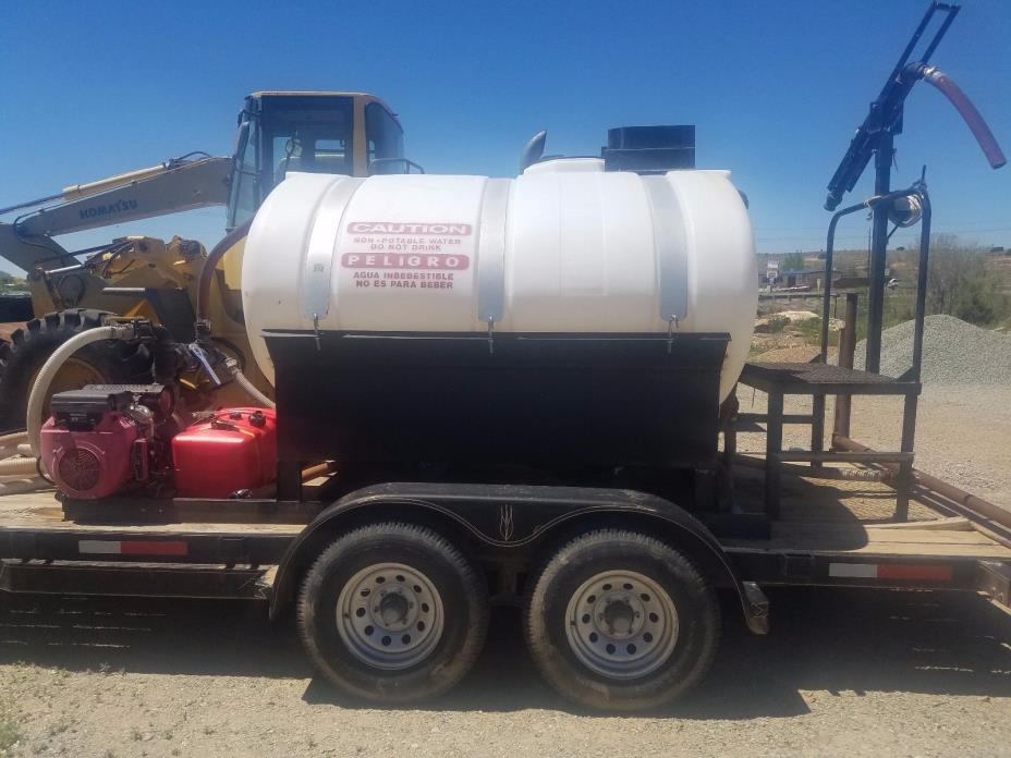 Hydro Terra 1000 Gallon Hydroseeder w/ 2 Axle Trailer or use as water tank