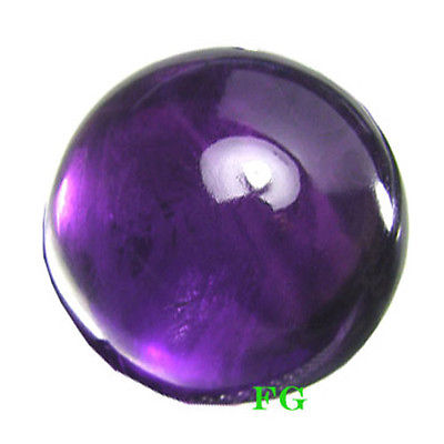 5.84 cts   12 MM ROUND EARTH MINED NATURAL PURPLE AMERTHYST CAB