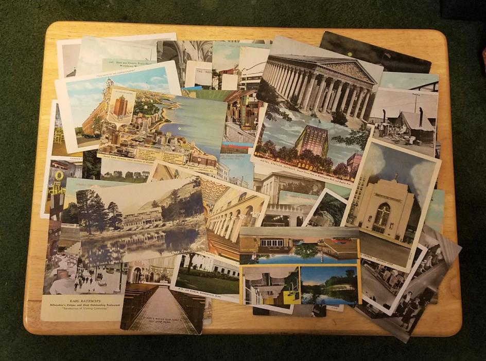 **LOT OF 45** Vintage Postcards (UNPOSTED!)
