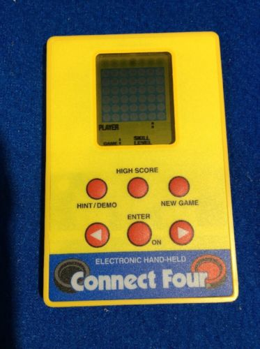 Milton Bradley MB 1999 Electronic Connect Four 4 Game Credit Card Size!