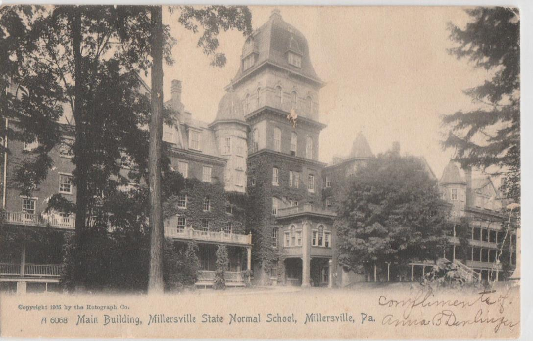 Millersville  State Normal School PA  Stamped 1905  # D24