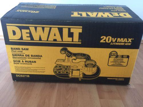 DEWALT 20V MAX Li-Ion Band Saw (BT) DCS371B Never Used in Open Original Box