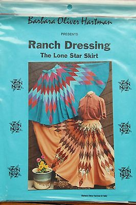 Sewing skirt pattern--Lone Star quilt design-full circle skirt-, western