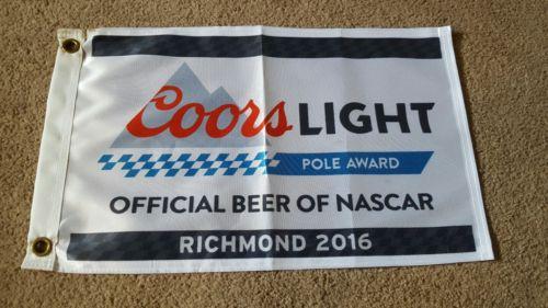KEVIN HARVICK NASCAR COORS LIGHT POLE FLAG AWARD RICHMOND 2016 TEAM TROPHY RARE