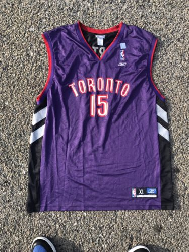 Reebok NBA Toronto Raptors Vince Carter #15 Men Sz XL 48