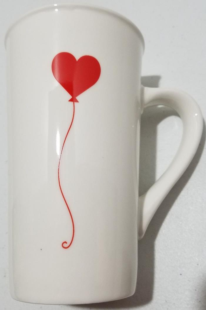 Starbucks 2017 Heart Balloon Mug Tall Latte Style 16oz Coffee Mocha Tea Love