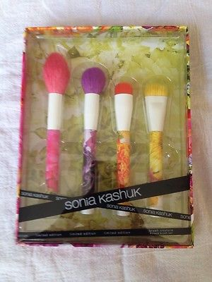 Sonia Kashuk BNIB Brush Couture 4 Pc Brush Set Limited Edition NEW Floral 2016!