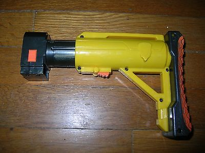 Used Nerf N Strike Rare Yellow Raider-style Barricade Stock Attachment Accessory