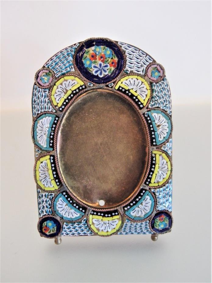 Beautiful Antique Italian Micro Mosaic Frame